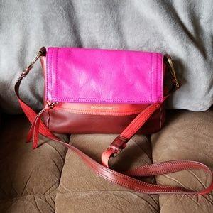 B.Makowsky multicolored leather crossbody handbag